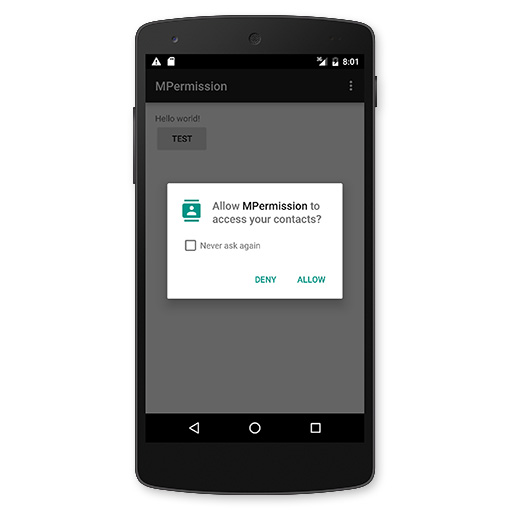 android6.0 permission dialog