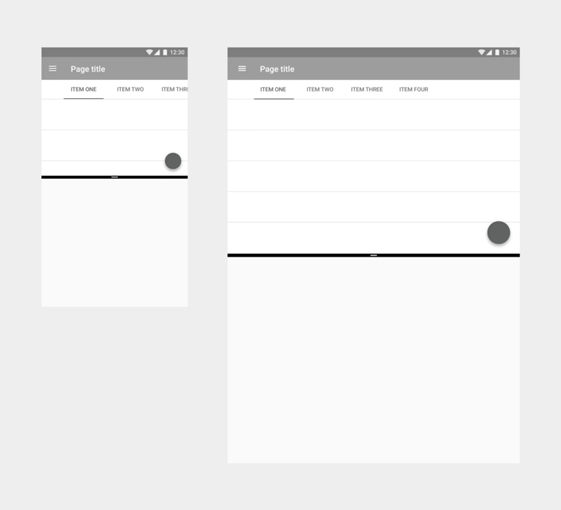 Building a single responsive layout makes for smooth transitions as your app resizes